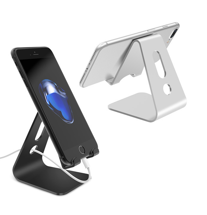 Vogek Mobile Phone Holder Stand Aluminium Alloy Metal Tablet Stand Universal Holder for iPhone X/8/7/6/5 Plus Samsung Phone/ipad