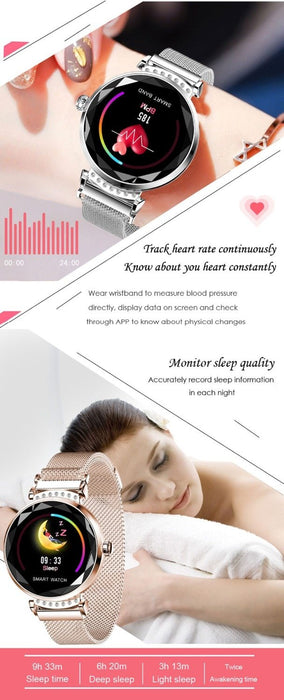 Smart Bracelet Women's  Heart Rate Monitor Blood Pressure Monitor Waterproof Smart Watch