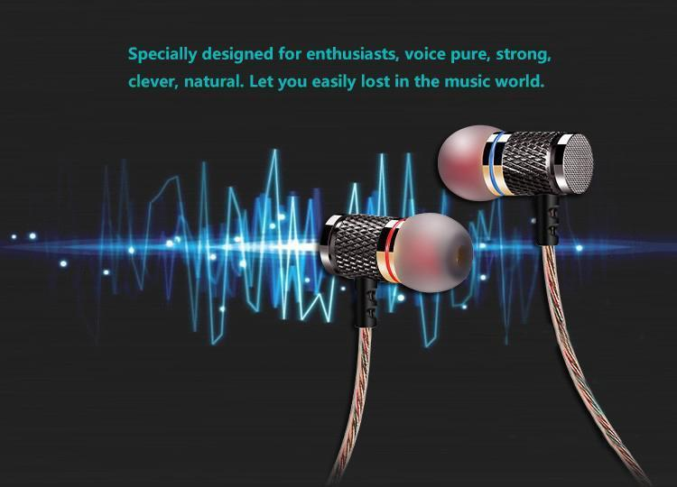 Professional In-Ear Metal Heavy Bass Sound Quality Earphone