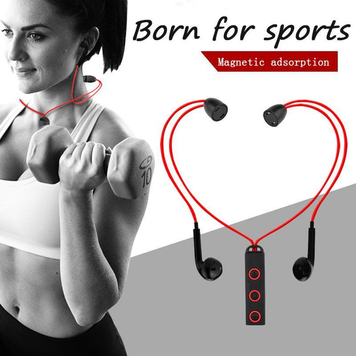 BT313 Magnetic Bluetooth Headset  Earphone Sport For all phone