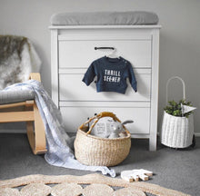 Navy Origami Swaddle Wrap