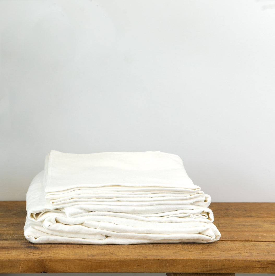 Linen Sheet Sets with Pillow Cases