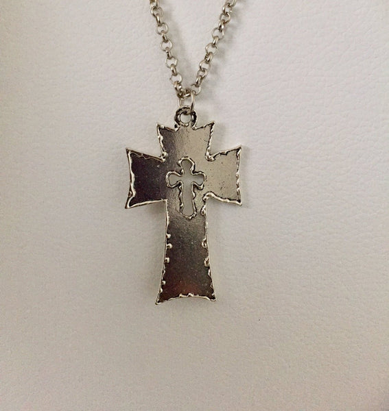 Cross pendant, Religious jewelry, Catholic necklace