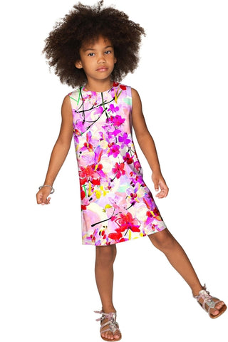 ccc4350f18e5 Orchid Caprice Adele Pink Floral Print Shift Dress