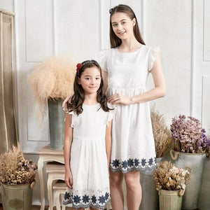 1c8b1d9072bc (Set of 2) Floral Embroidered Fit & Flare Dress