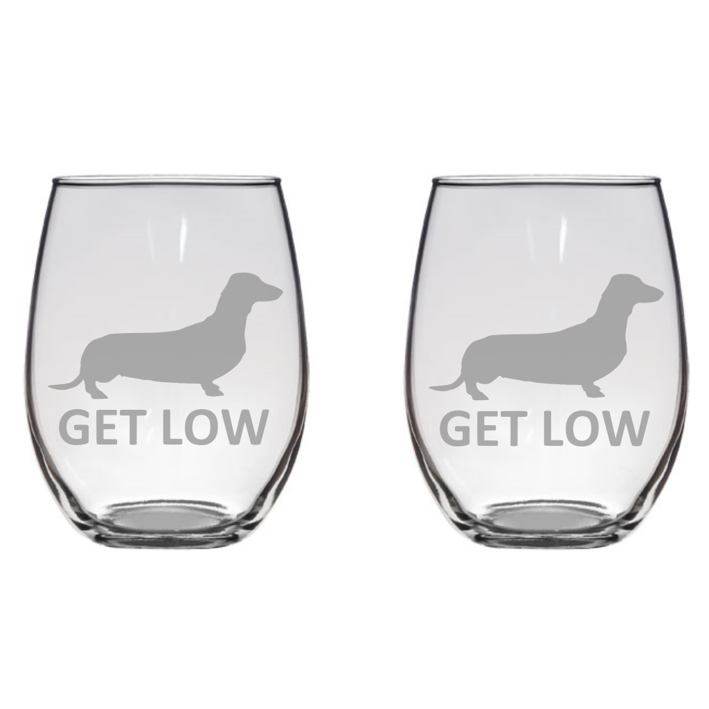 Fabulous Get Low Dachshund Engraved Glasses Dog Lover, Gift Free  WV98