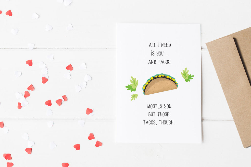free downloadable valentine's day card, taco valentine, funny valentine's day card, printable valentine's day card