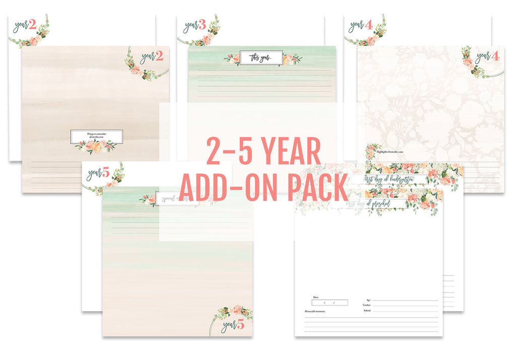 Watercolor Floral Baby Book