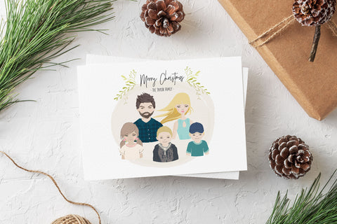Family Portrait Christmas Card