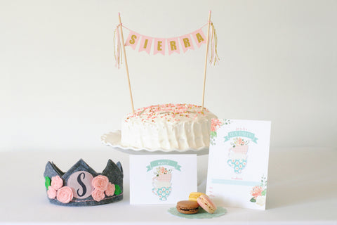 Piece of Cake Party Box: Tea Party