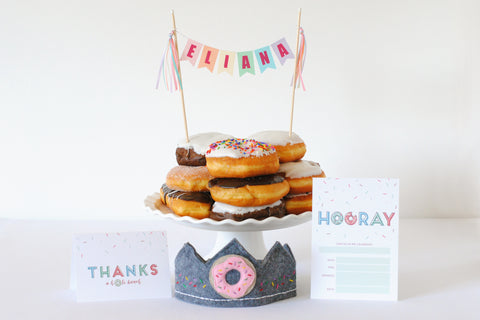 Piece of Cake Party Box: Donut Party