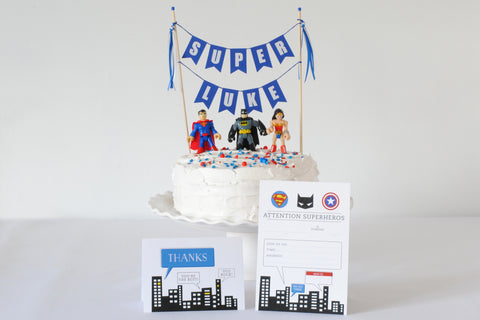 Piece of Cake Party Box: Superhero Party