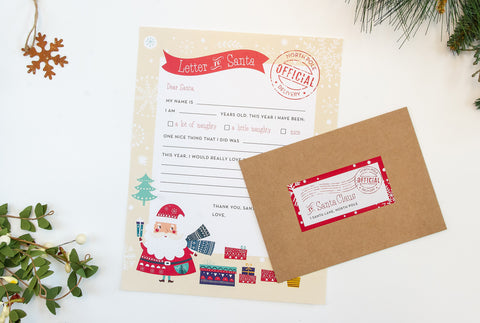 Official Letter to Santa, Set of 2