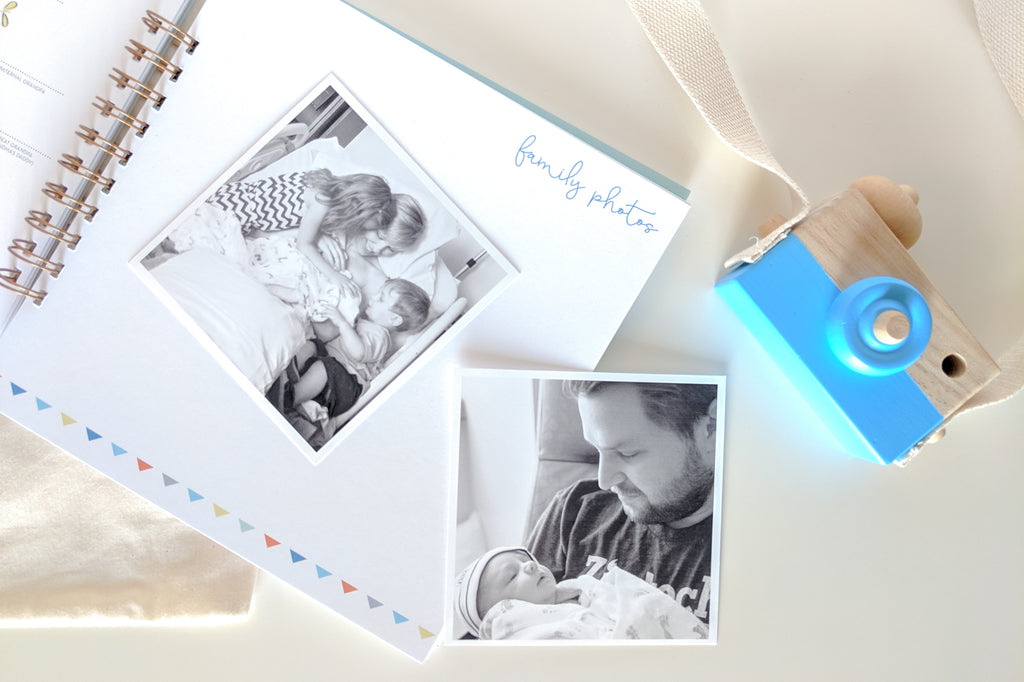 Simple Blue Baby Book