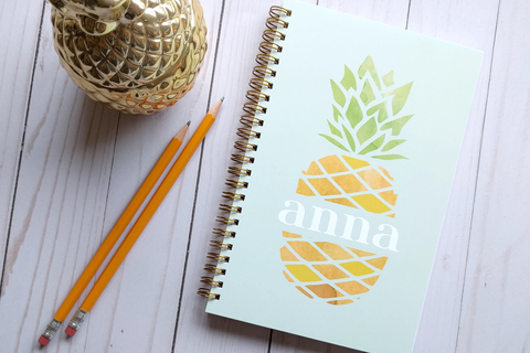 Personalized Pineapple Notebook