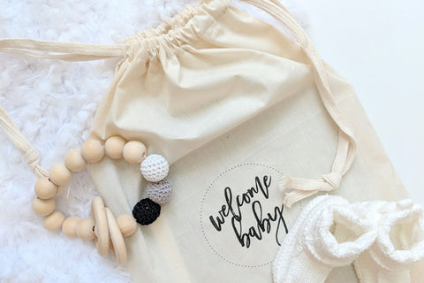 Baby Cotton Keepsake Bag