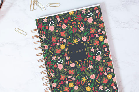 Rifle Floral Navy Planner