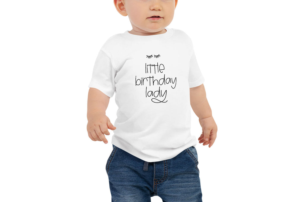 """Little Birthday Lady"" Baby Tee (6-24m)"