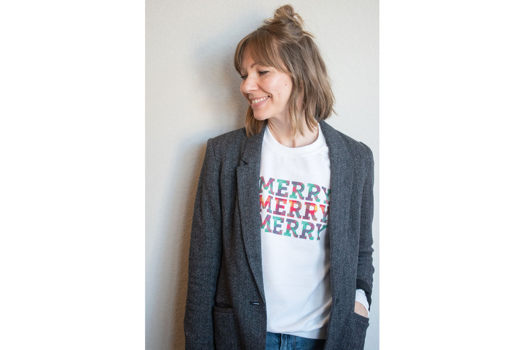 """Merry"" Holiday Sweatshirt"