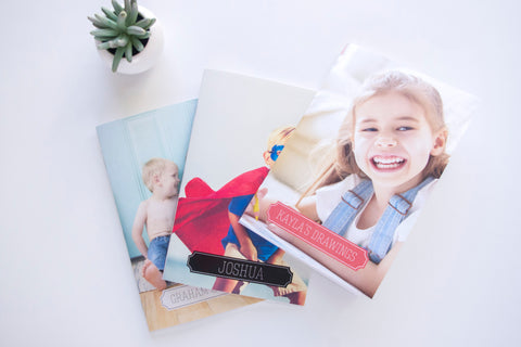 Personalized Mini Photo Notebooks (set of 3)