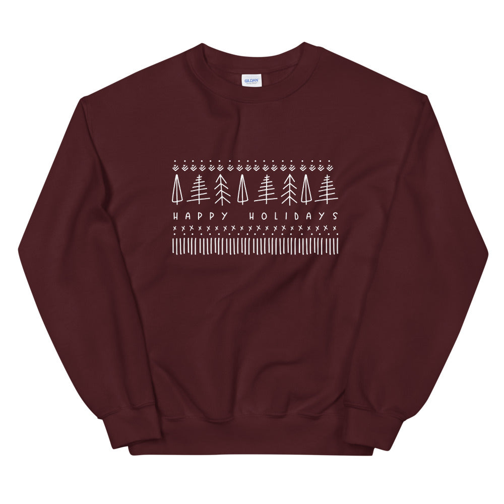 "Scandinavian ""Happy Holidays"" Sweatshirt"