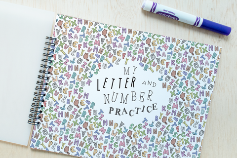Letter & Number Practice Book
