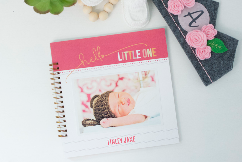 Simple Pink Baby Book