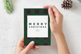 Buffalo Check Christmas Card Set