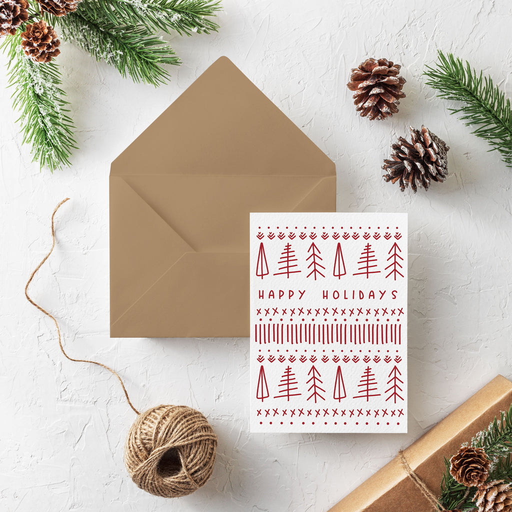 Scandinavian Christmas Tree Card Set