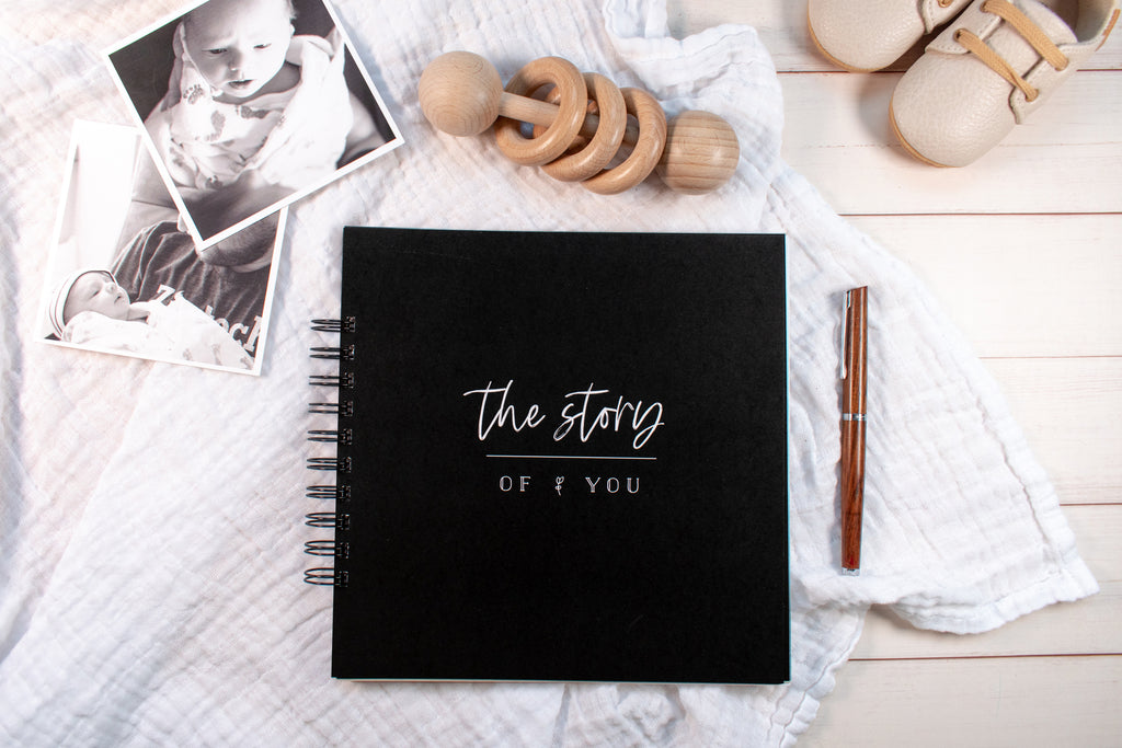 """Story of You"" Baby Book - Black"