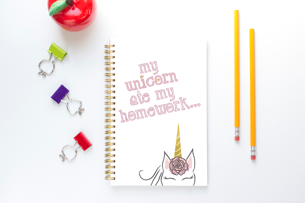 Homework Planner for Kids - Unicorn
