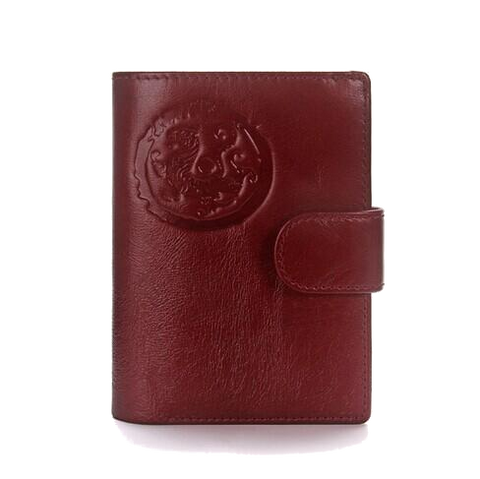 Genuine Leather Mens Passport Wallet - TacGarb