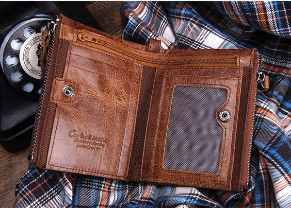 Crazy Horse Men's Leather Wallet - TacGarb