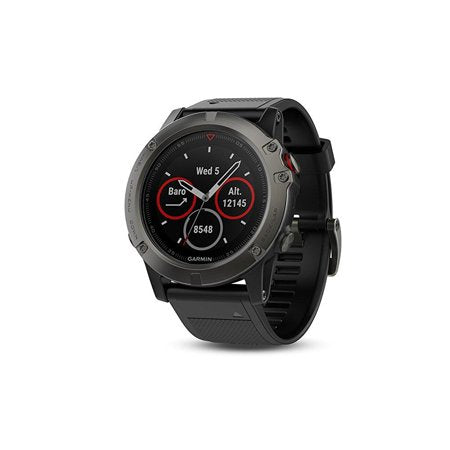 Garmin Fenix 5X Sapphire - Slate Gray with Black Band - TacGarb