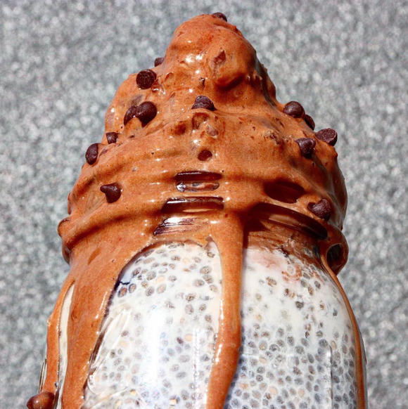 Vanilla Chia and Creamy Chocolate Nicecream