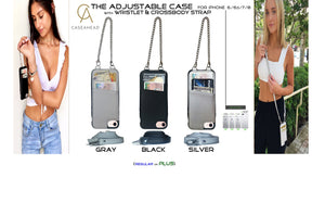 Meet our Adjustable Crossbody strap cases...