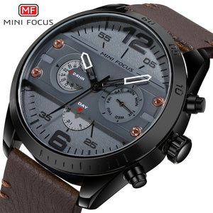 [NEW] 2018 Luxury Leather Strap Military Timepiece