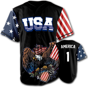 USA Patriotic Jersey™️ - America #1 - Black (Small-5XL)