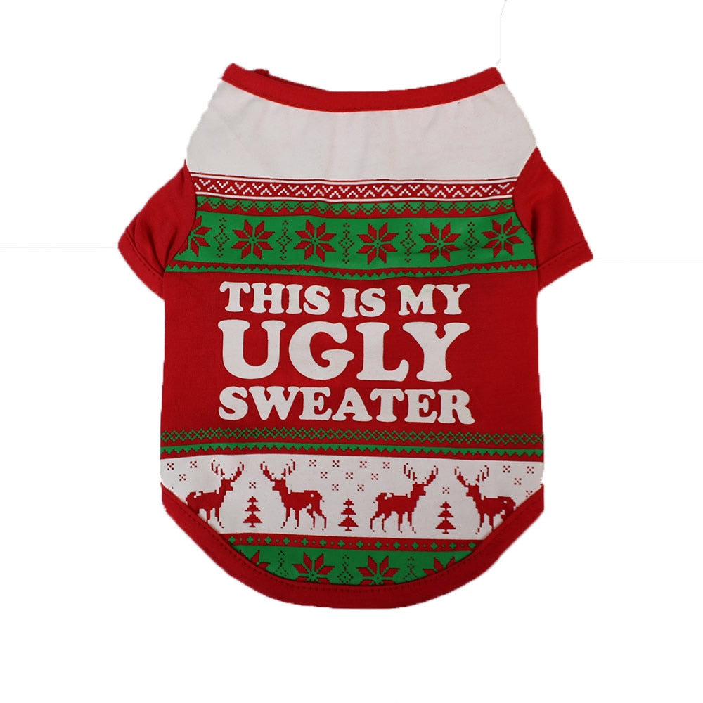 Ugly Sweater Doggie Christmas Shirt