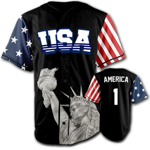 USA Liberty Jersey™️ - America #1 - Black (Small-5XL)