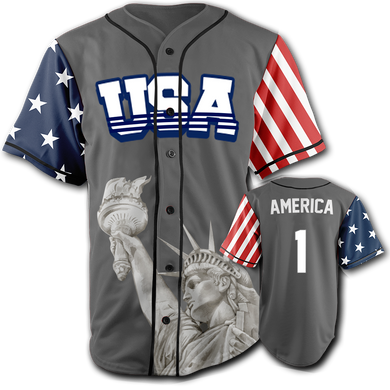 USA Liberty Jersey™️ - America #1 - Grey (Small-5XL)