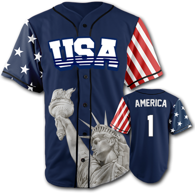 USA Liberty Jersey™️ - America #1 - Navy (Small-5XL)