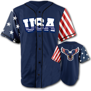 USA National Jersey™️ - American Eagle - Navy (Small-5XL)