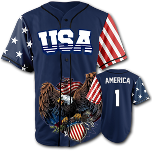 USA Patriotic Jersey™️ - America #1 - Navy (Small-5XL)