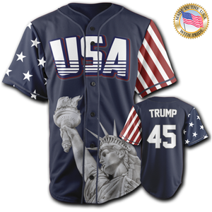 USA Freedom Jersey™️ - Trump #45 - Navy (Small-5XL)