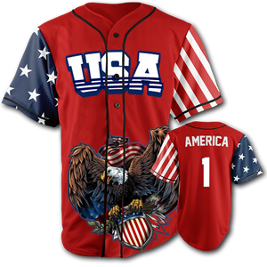USA Patriotic Jersey™️ - America #1 - Red (Small-5XL)