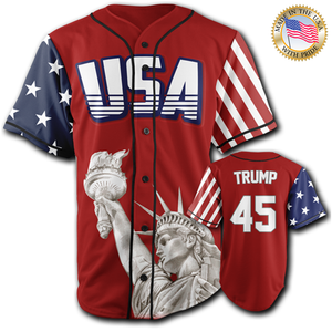 USA Freedom Jersey™️ - Trump #45 - Red (Small-5XL)