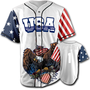 USA Patriotic Jersey™️ - America #1 - White (Small-5XL)