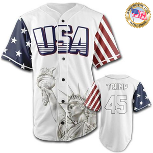 USA Freedom Jersey™️ - Trump #45 - White (Small-5XL)