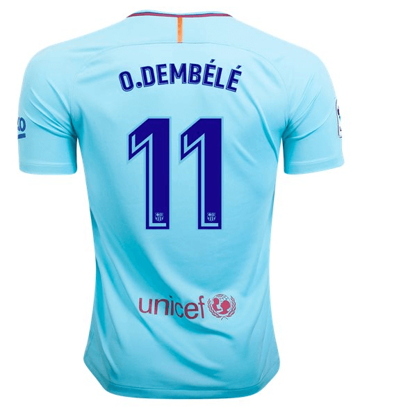 half off 5c348 bc891 Dembele Barcelona Authentic Away Jersey 17/18